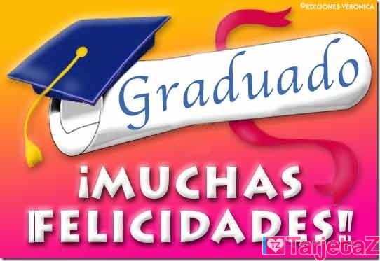 graduado felicidades