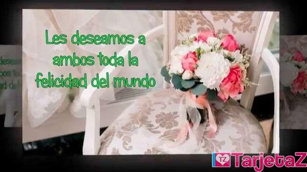 felicidades por tu boda