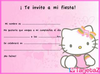 invitación hello Kitty 3