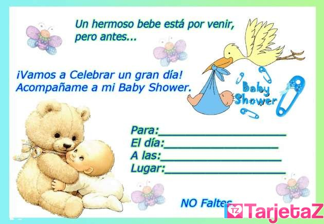 invitaciones para imprimir baby shower