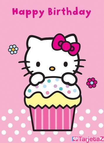 tarjetas-cumpleanos-hello-kitty-imprimir-cupcake