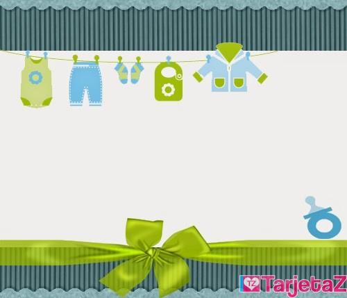 Tarjetas Baby Shower Niño
