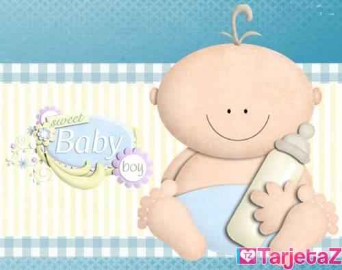 tarjetas para imprimir de baby shower