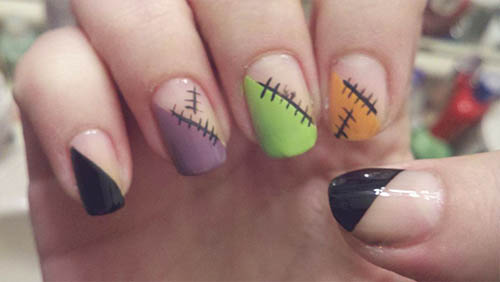 pintar uñas en halloween