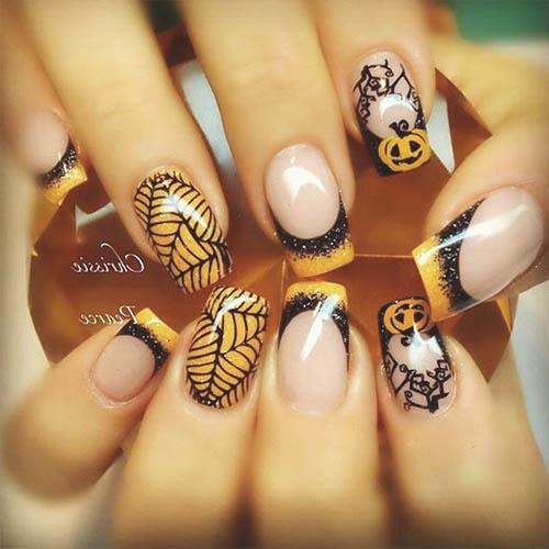 como pintarse las uñas para halloween