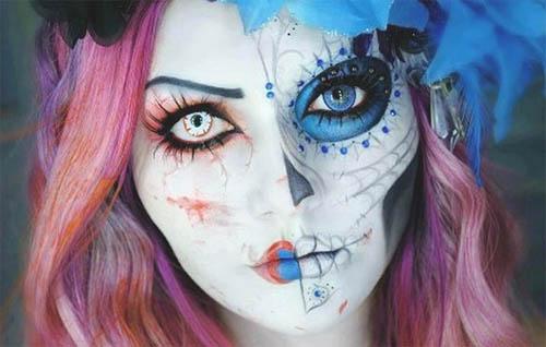 maquillaje para halloween tarjetaz
