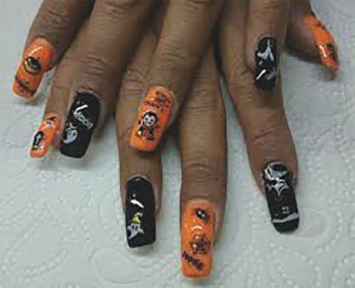 halloween uñas decoradas facil