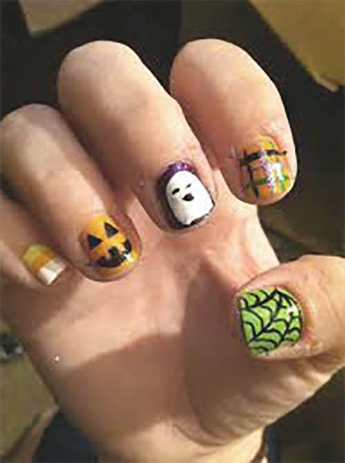Uñas de calabaza halloween