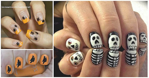 Uñas de halloween ideas