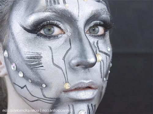Maquillaje para halloween tarjetaz - Pintura cara halloween ...