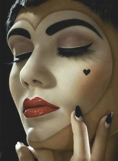 Los mejores maquillaje para halloween, maquillaje de halloween, maquillaje halloween para compartir con tus seres queridos. Encontralas gratis en http://www.Tarjetaz.com