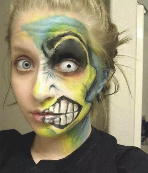 Como pintarse la cara para halloween