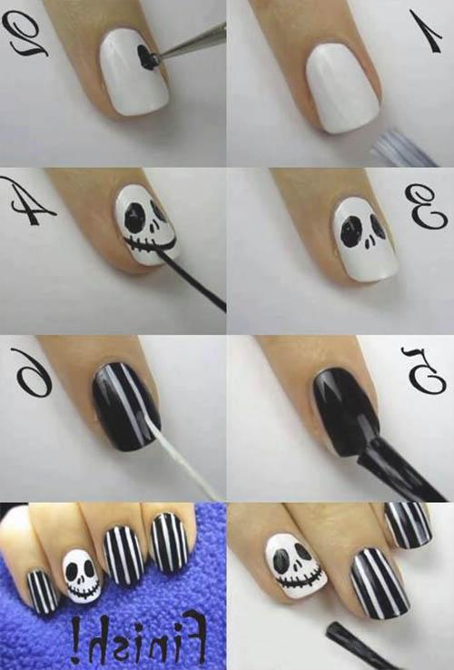tutorial uñas calavera