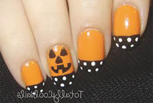 Uñas decoradas calabaza halloween