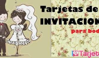 Tarjetas de invitación para boda