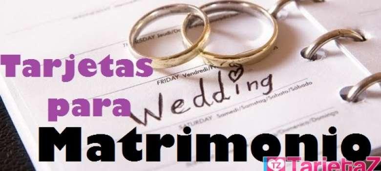 Tarjetas para matrimonio