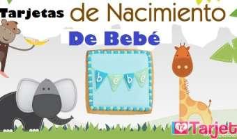 Tarjetas de nacimiento de bebé
