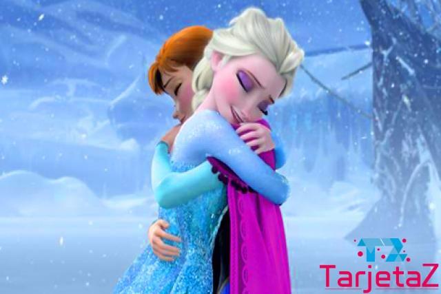 abrazo de frozen cumpleaños