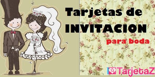 Tarjetas De Invitación Para Boda Tarjetaz