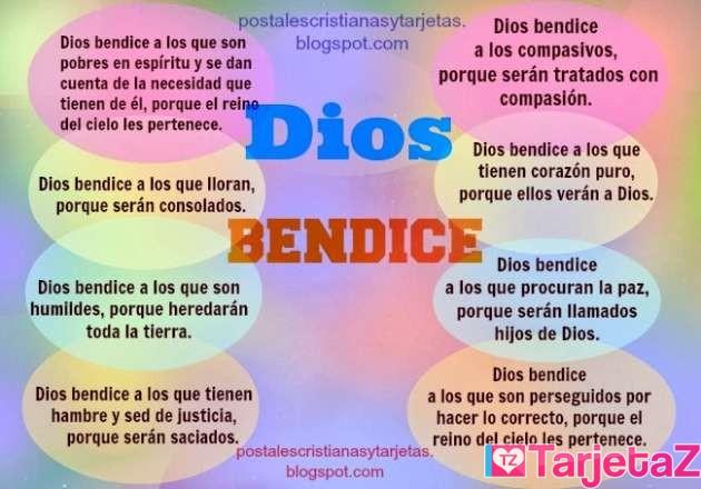 Dios bendice postales cristianas
