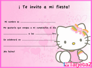 invitación hello Kitty 3