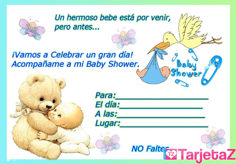 Invitaciones Para Imprimir Baby Shower Tarjetaz