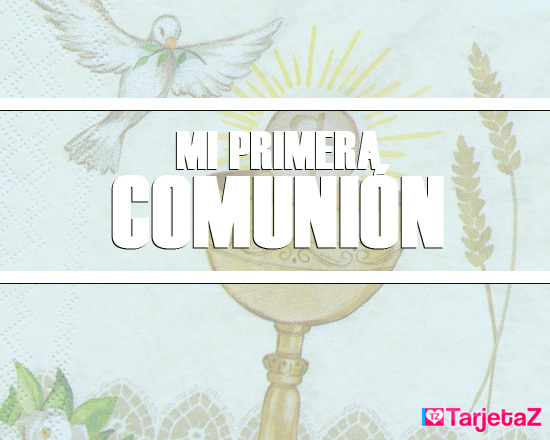 tarjetas de comunion para niña