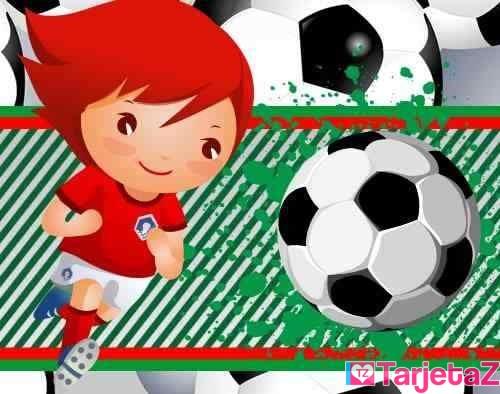 Tarjetas De Cumpleaños De Futbol Feliz Cumple Goleador