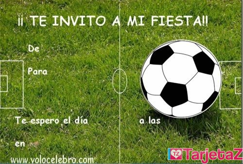 Invitaciones Cumpleaños Futbol Gratis Tarjetaz