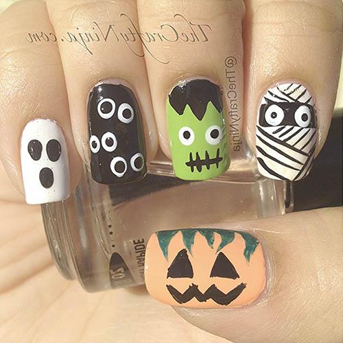 decoracion para halloween de uñas