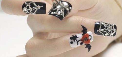 decoracion para uñas en halloween