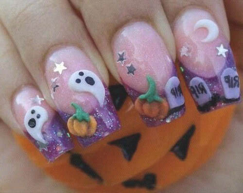 uñas decoradas en halloween