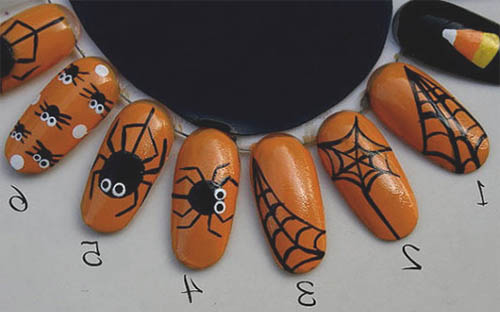 tutorial uñas de halloween