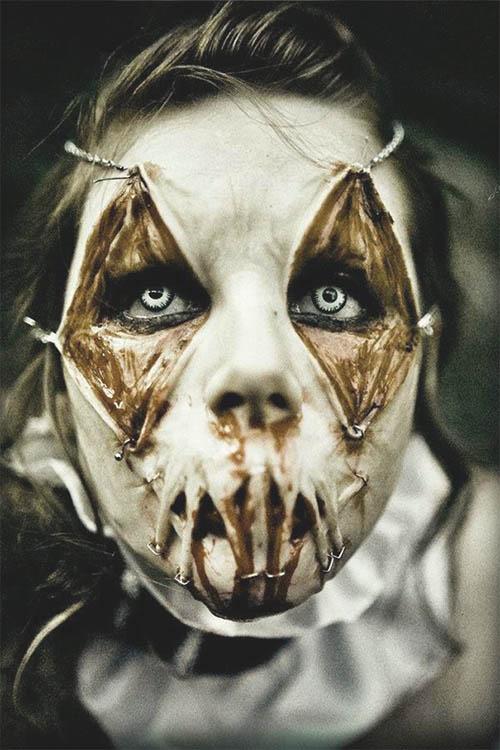 zombi maquillaje facil