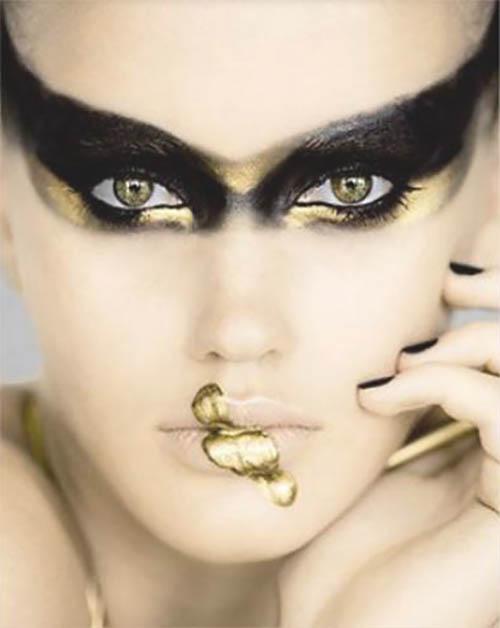 mujer maquillaje de halloween