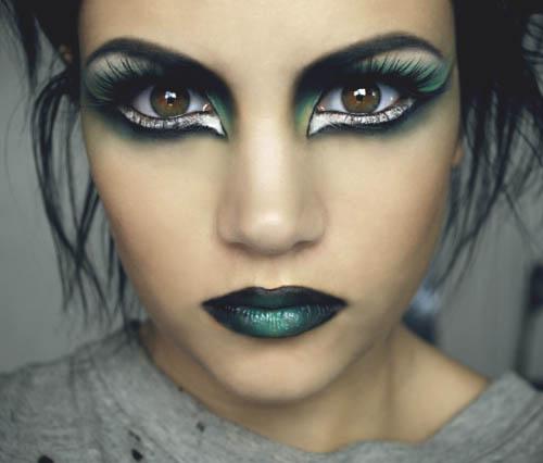 Bruja halloweeen maquillaje