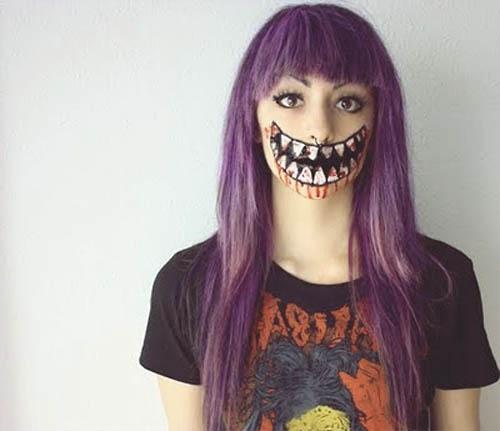 MAquillaje de cara para niños en halloween