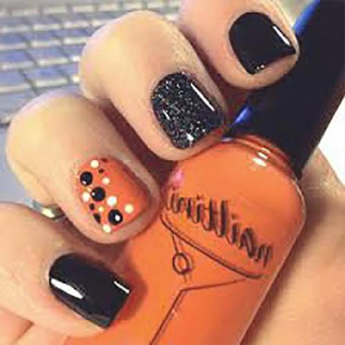 ideas fáciles uñas de halloween
